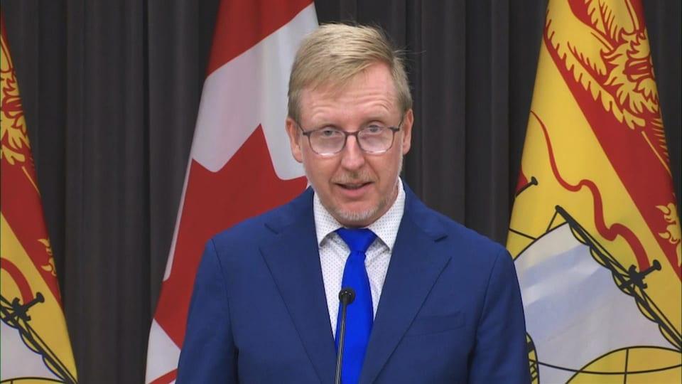 Le ministre de l'Éducation du Nouveau-Brunswick, Dominic Cardy, le 13 août 2020.