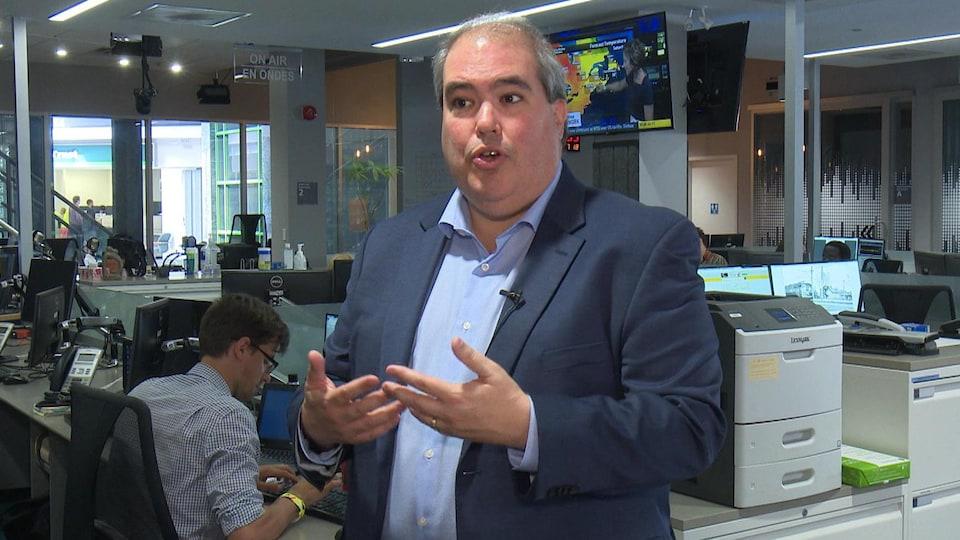 Dominic Giroux en entrevue à Radio-Canada.