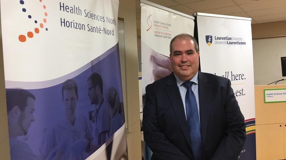 Dominic Giroux commencera dans ses nouvelles fonctions de PDG de l'hôpital Horizon Santé-Nord le 2 octobre 2017.
