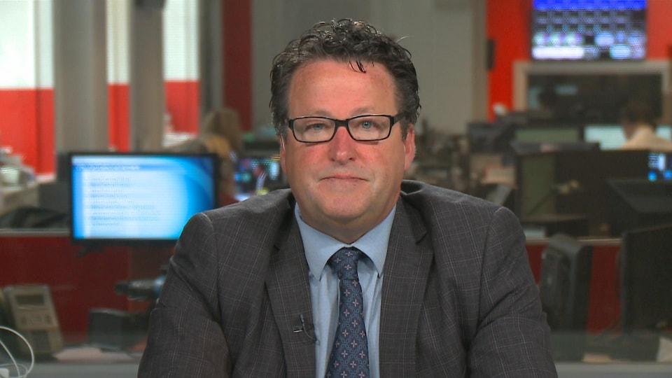 Le député de Nicolet-Bécancour, Donald Martel, en entrevue