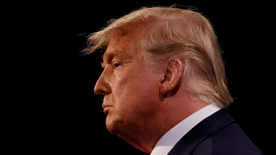 Le président Donald Trump lors du dernier débat avec son adversaire démocrate Joe Biden