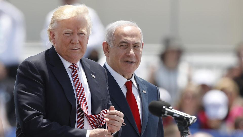 Le président américain Donald Trump et le premier ministre israélien Benyamin Nétanyahou.