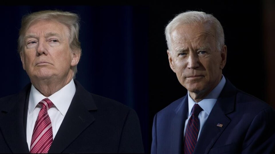 Montage photo de Donald Trump et Joe Biden
