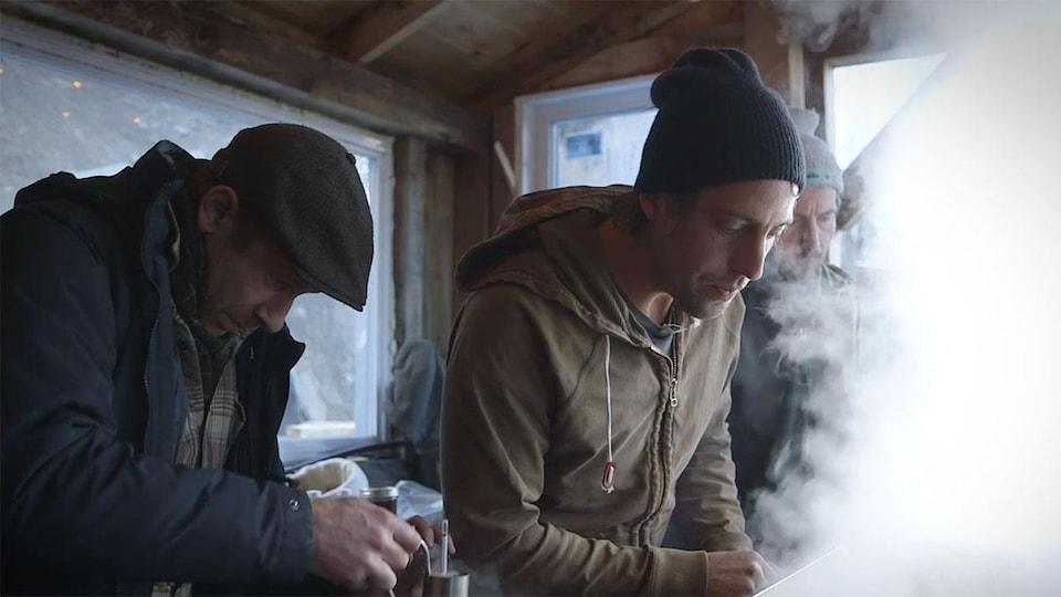À la cabane à sucre de Simon, dans le documentaire «Le goût d'un pays», de Francis Legault