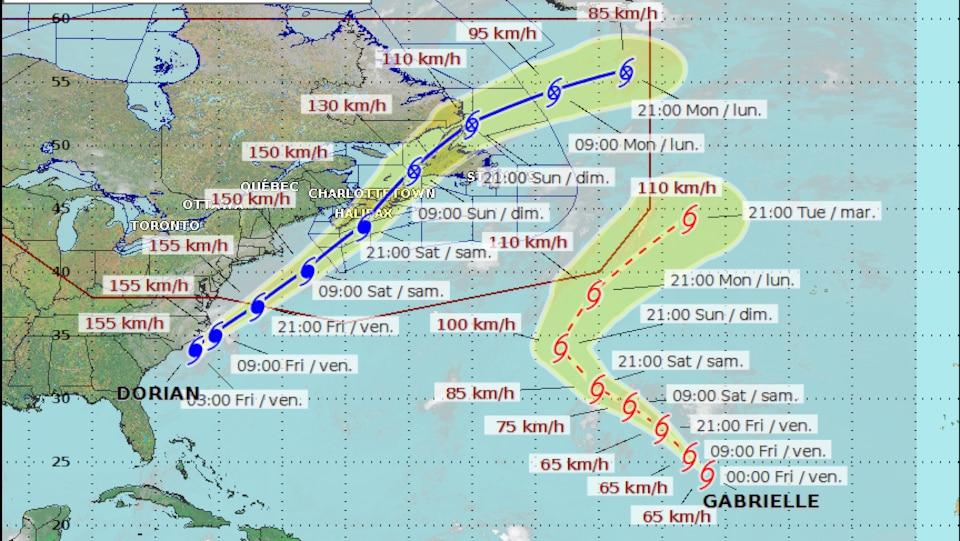 Après avoir dévasté les Bahamas, l'ouragan Dorian s'abat sur le Canada