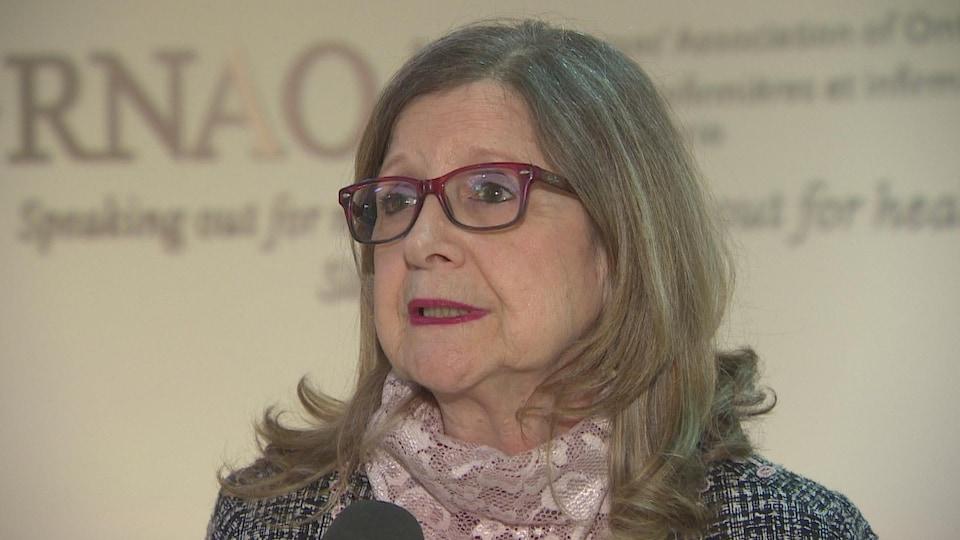 Doris Grinspun, PDG de l'Association des infirmières autorisées de l'Ontario en entrevue