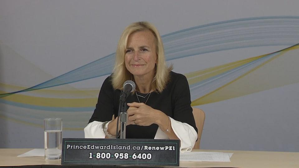 La Dre Heather Morrison, médecin hygiéniste en chef de l'Île-du-Prince-Édouard, le 6 octobre 2020.