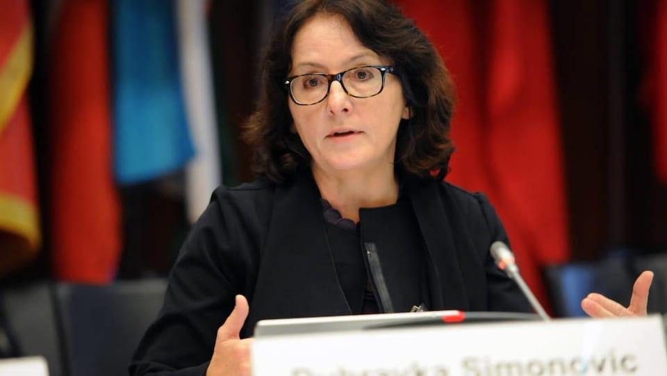 La rapporteuse spéciale chargée de la question de la violence contre les femmes Dubravka Simonovic