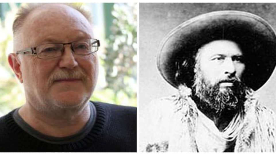 Deux photos du visage de deux hommes.