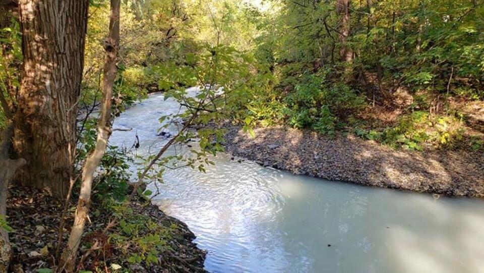 Un dérivé de pétrole a été déversé dans la rivière Beauport.