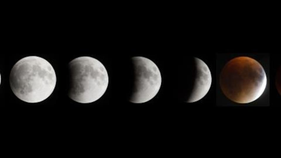 les phases de la lune dans une éclilpse