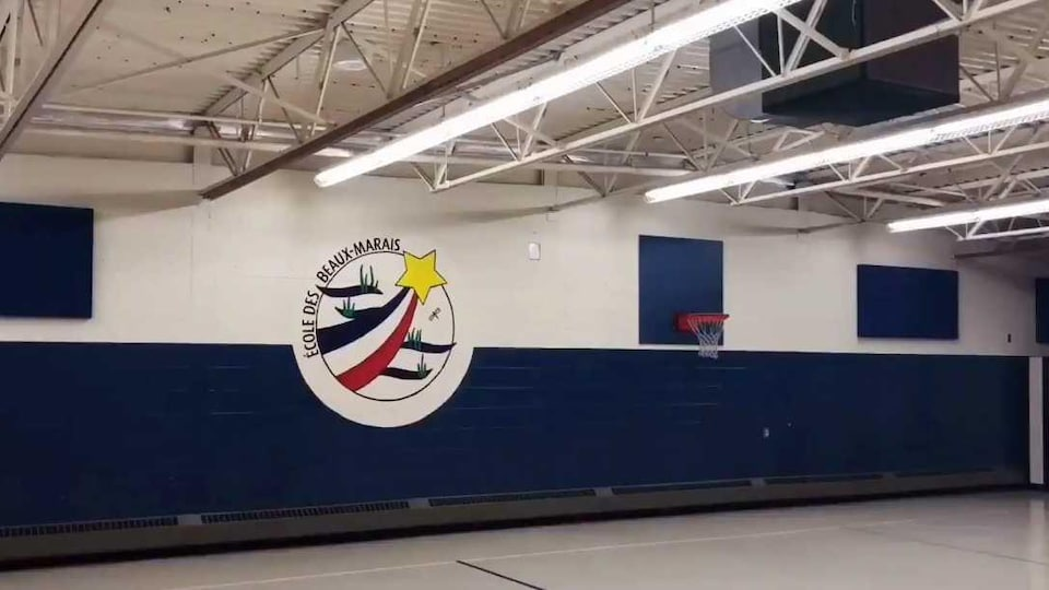 Le gymnase de l'École des Beaux-Marais, à Chezzetcook en Nouvelle-Écosse.