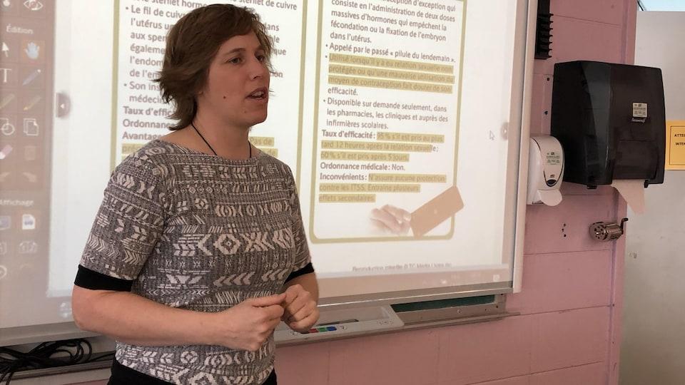L'enseignante Marilou Laprise