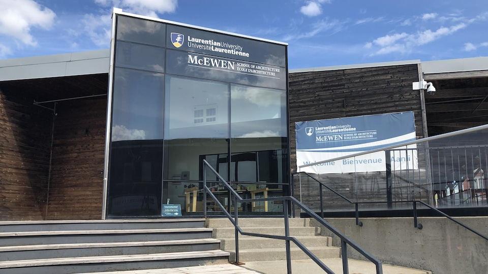 Entrance to the McEwen School of Architecture at Laurentian University.