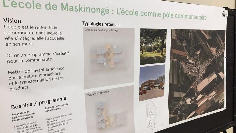 Une affiche où on peut dire L'école de Maskinongé : L'école comme pôle communautaire