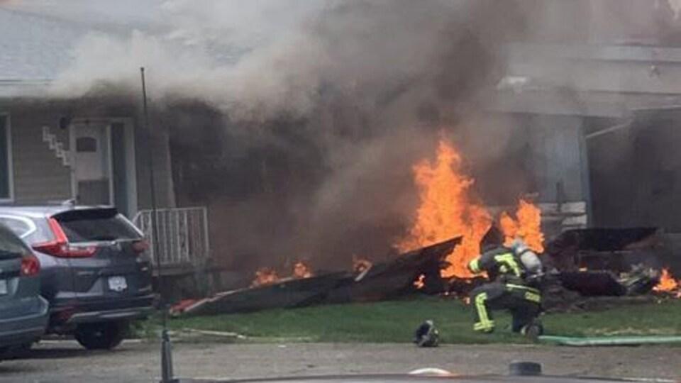 Un incendie à Kamloops.
