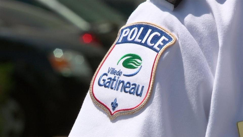 L'écusson du Service de police de la Ville de Gatineau (SPVG).