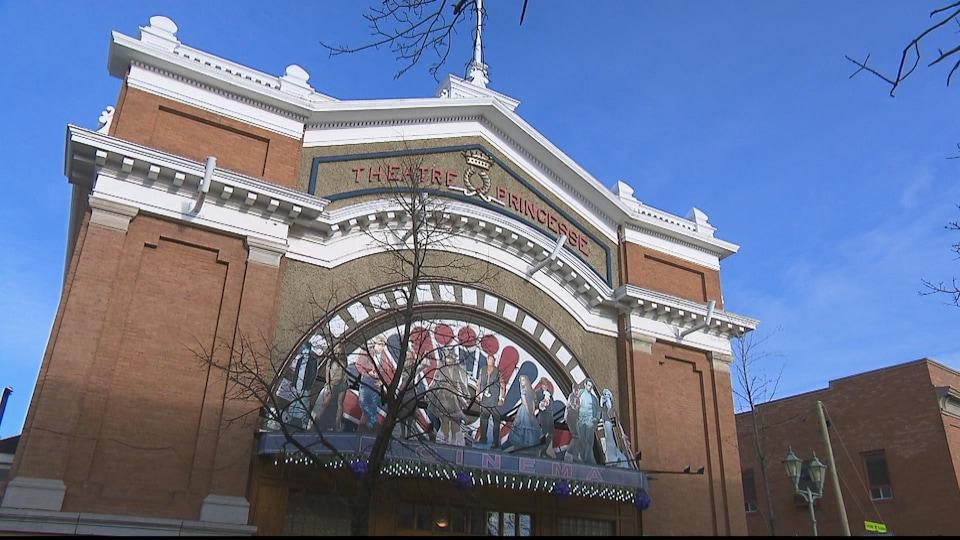 Façade du Cinéma Princesse à Rivière-du-Loup.