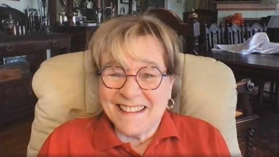 Édith Butler en entrevue skype.