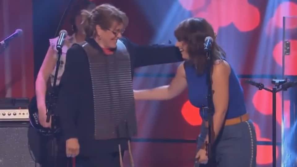 Édith Butler et Lisa LeBlanc.