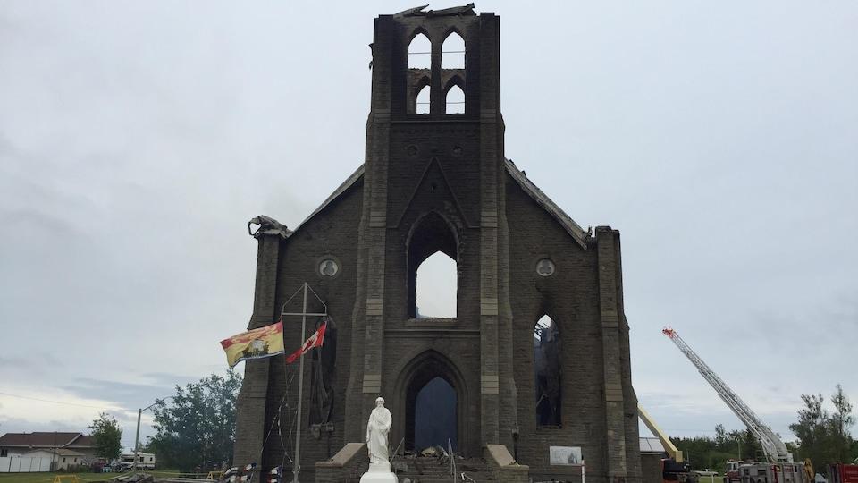 Les ruines de l'église de Bas-Caraquet