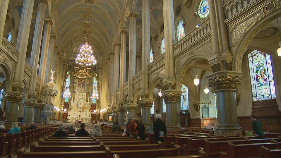 L'intérieur de l'église Saint-Jean-Baptiste de Québec