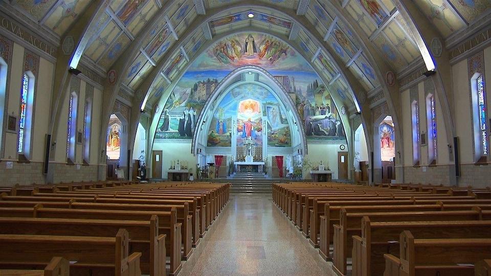 L'église Sainte-Amélie à Baie-Comeau