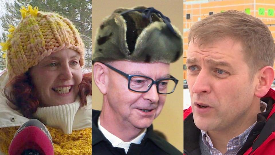 Montage de trois photos des trois chefs.