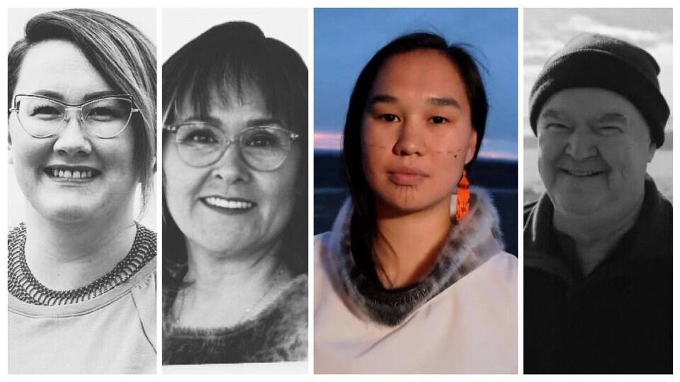 Les 4 candidats du Nunavut.
