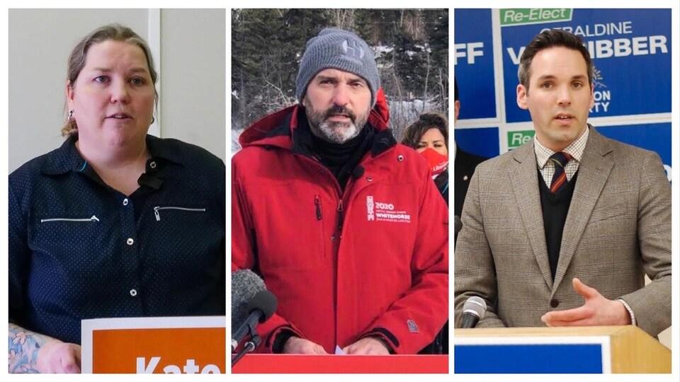 Un collage des trois leaders.