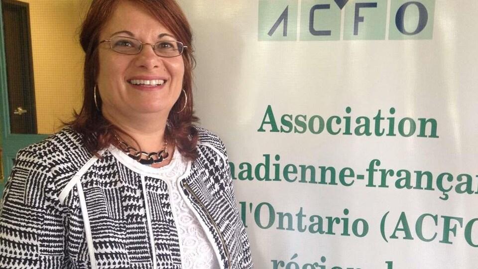 La présidente de l'ACFO-WECK, Elisabeth Brito