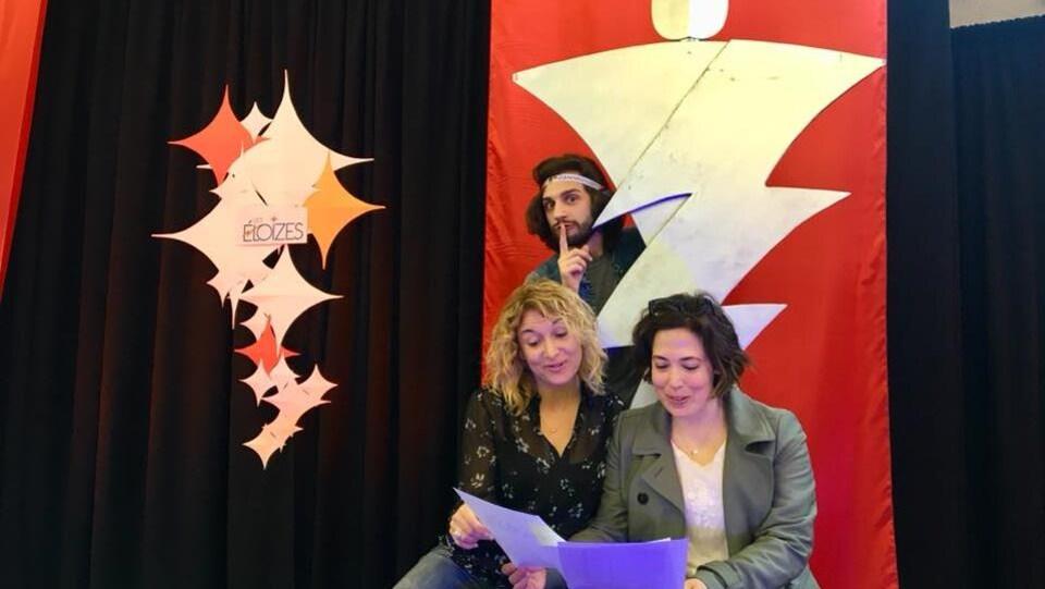 Martine Blanchard, Anne-Marie Parenteau et Jass-Sainte Bourque.