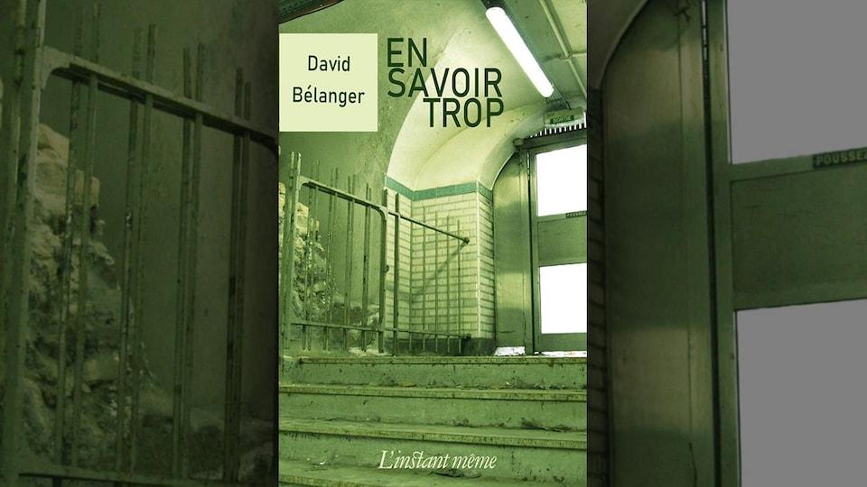 Une photo pleine page d'un escalier, dans des tons de vert,  compose la couverture.