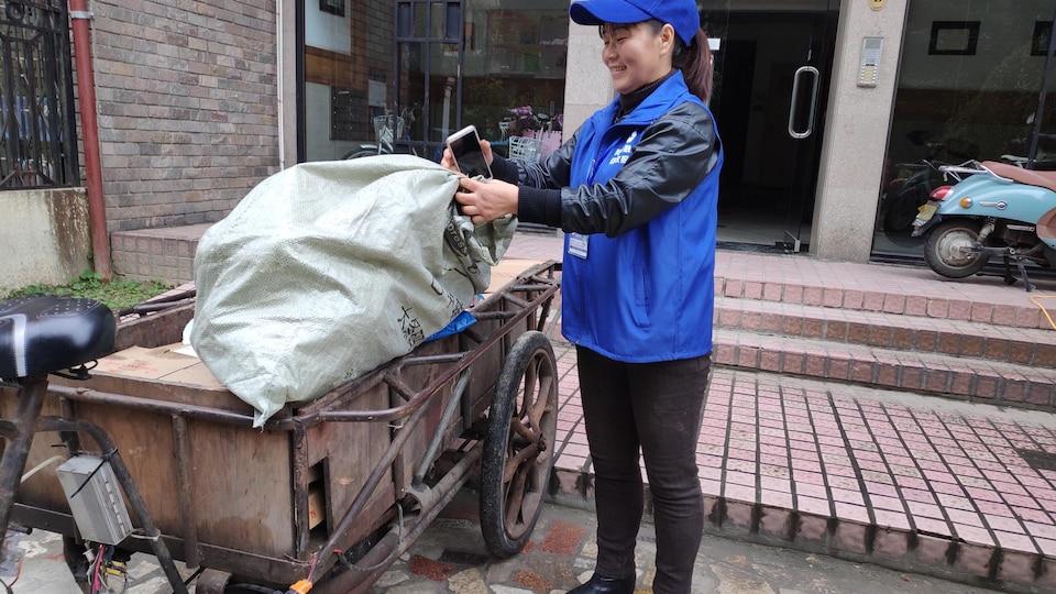 Collecte de produits recyclables. Shanghai, décembre 2018
