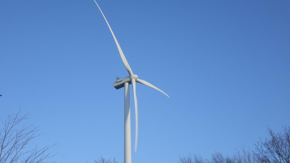 Les pales d'une éolienne.