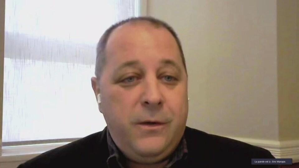 Éric Marquis, maire suppléant d'Edmundston, en janvier 2021.