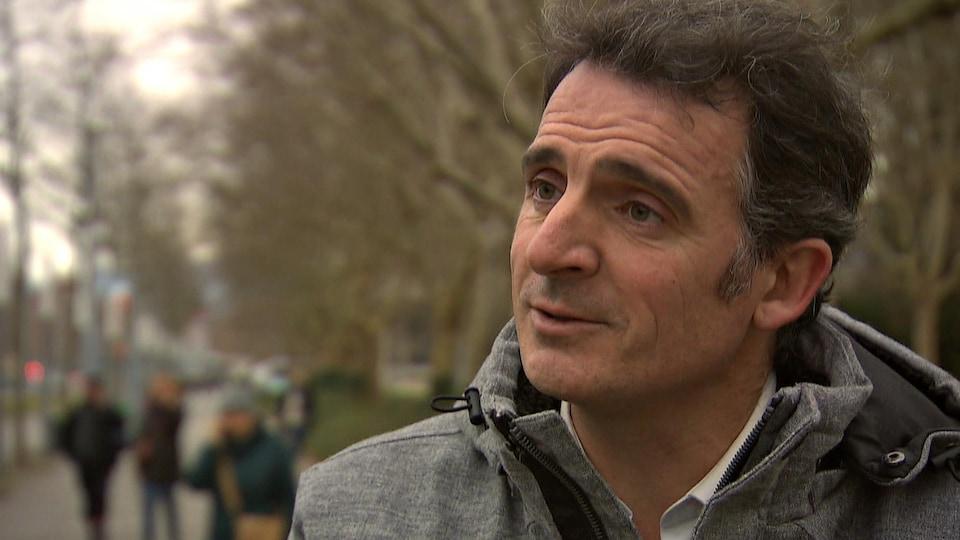 Le maire de Grenoble, Éric Piolle