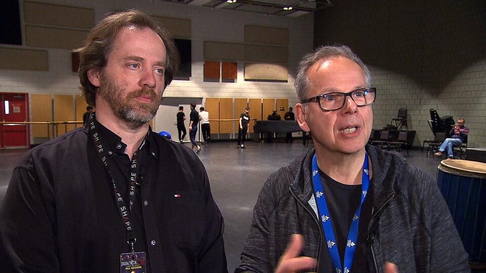 Érick Villeneuve et Luc Boivin, deux des créateurs du spectacle «Immortal Chi»