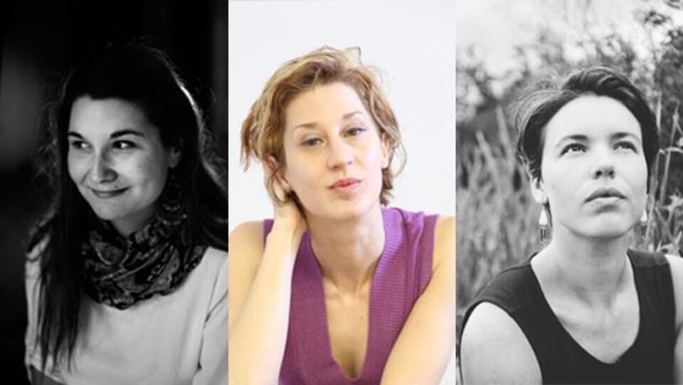 Les poètes Erika Soucy, Sonia Cotten et Marie-Andrée Gill