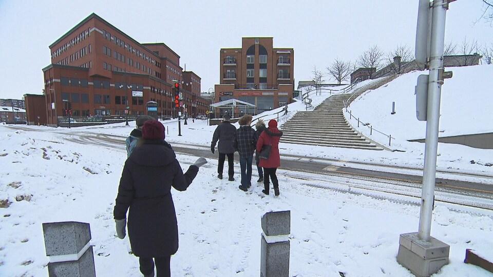 L'escalier monumental à l'hiver 2016.