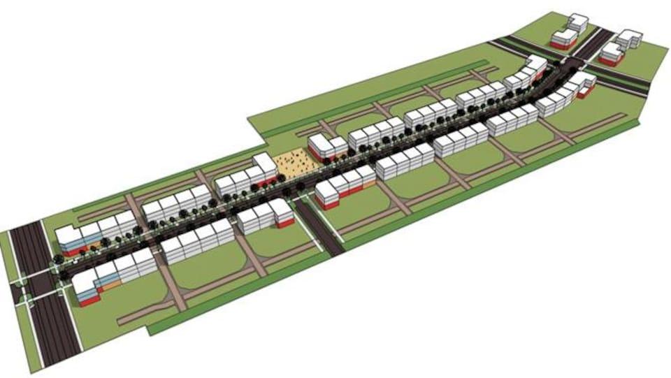 Plan de l'espace urbain Alcide-C.-Horth.