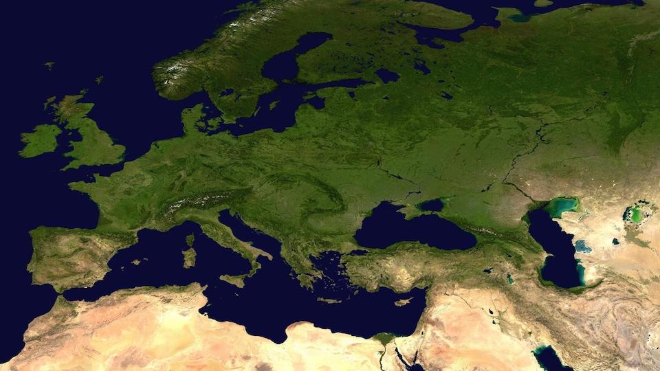 L'Europe et le bassin méditerranéen.