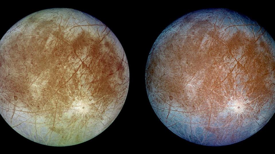 La lune Europe de Jupiter.