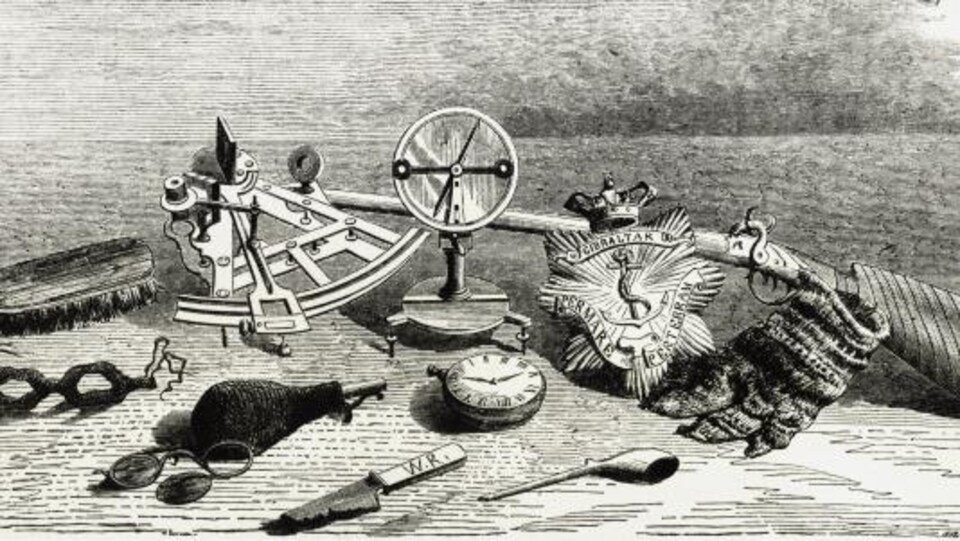 Dessin de matériel de navigation marine