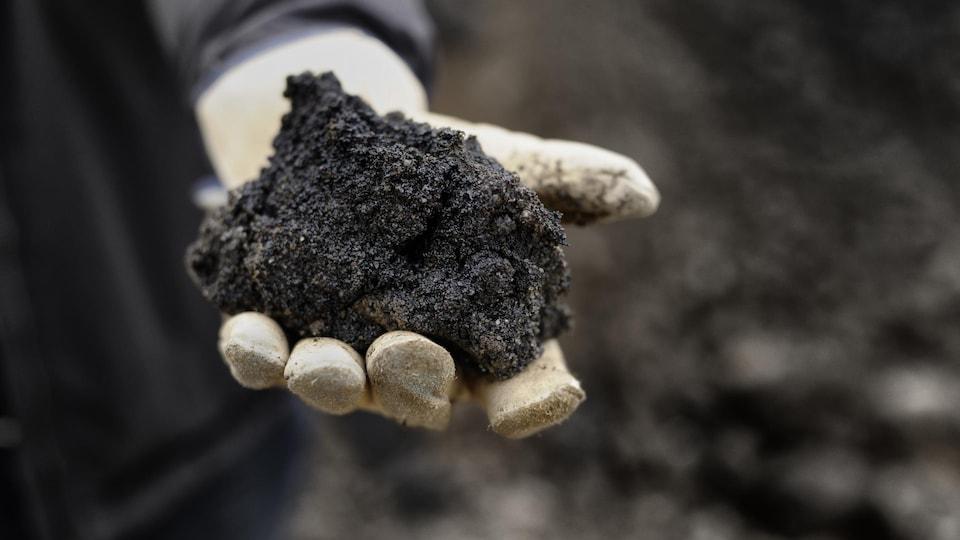 Du sable bitumineux