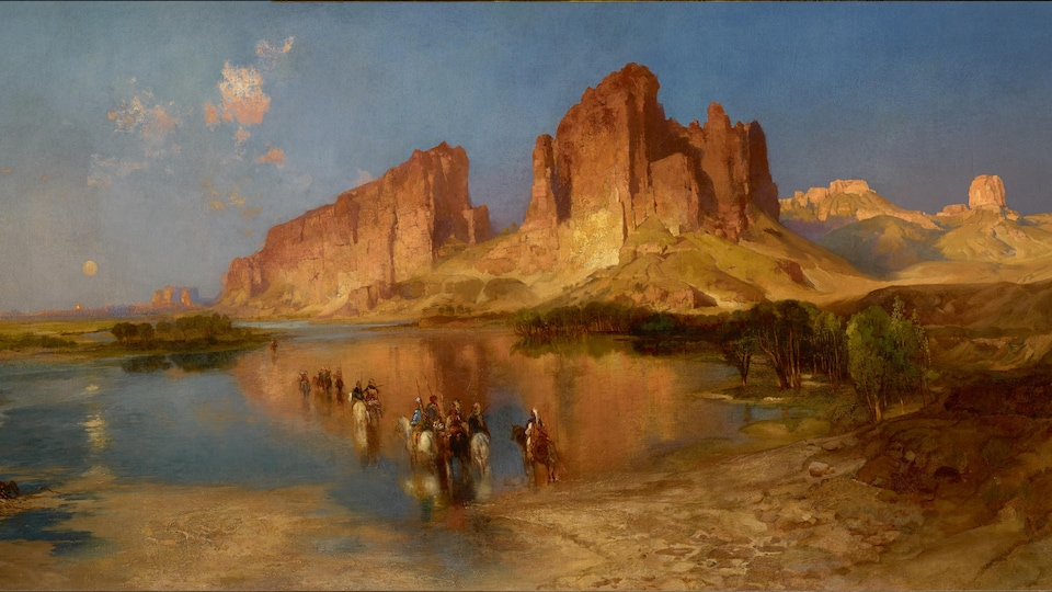 Thomas Moran (1837-1926), « Le mirage », 1879, huile sur toile. Orange (Texas), Stark Museum of Art.