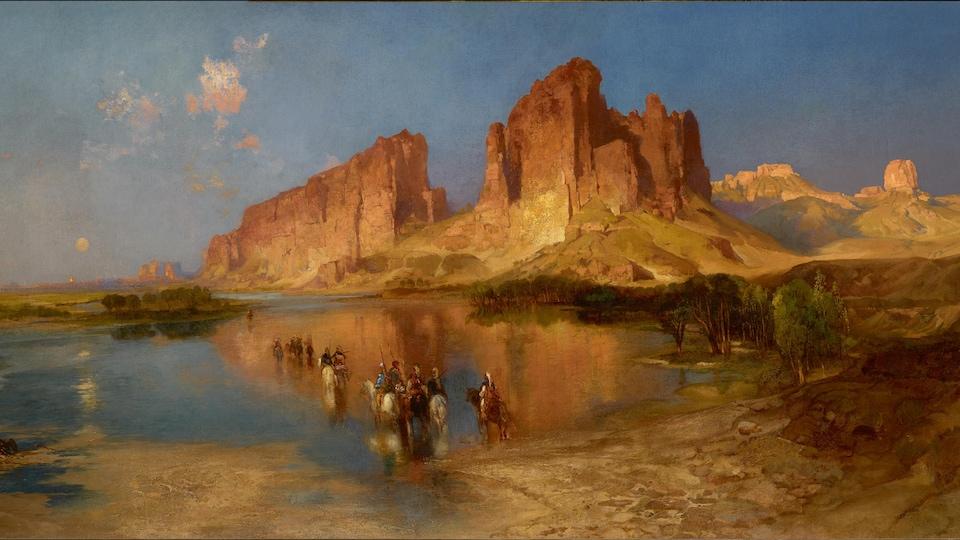 Thomas Moran (1837-1926), «Le mirage», 1879, huile sur toile. Orange (Texas), Stark Museum of Art.