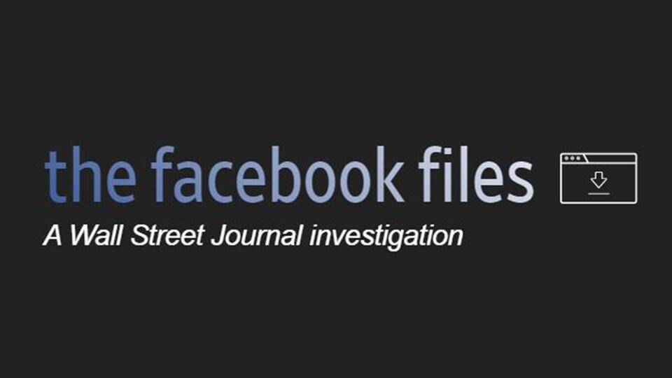 """Il s'agit des mots """"the Facebook Files""""."""