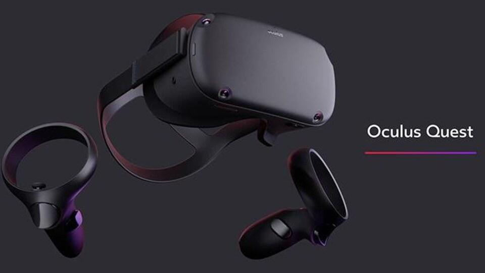 Le casque de réalité virtuelle sans fil Oculus Quest.