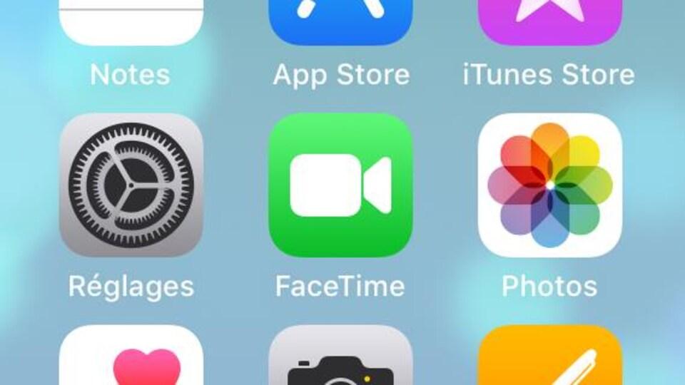 Logo de l'application FaceTime.